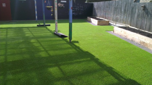 Artificial grass for nursery school