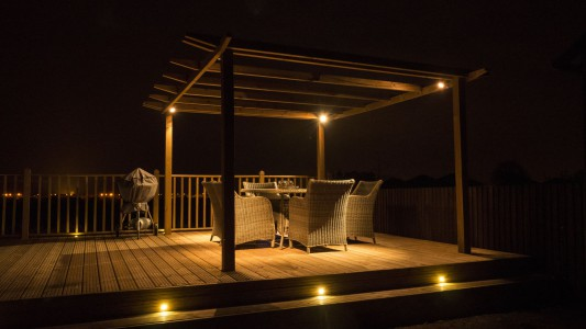 Garden lighting decking