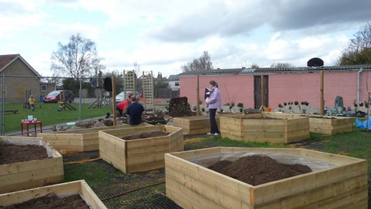 Educational Landscaping Raised Beds