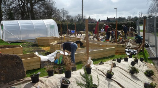 Duxford school garden volunteer day