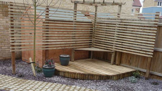 Garden seating and timberwork
