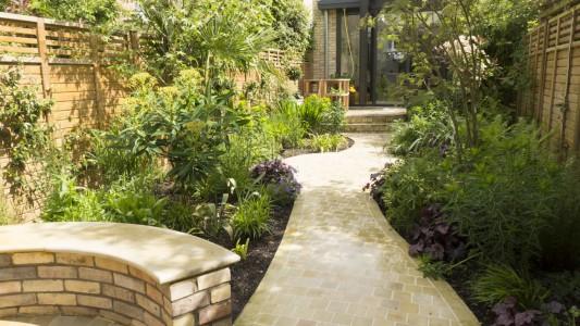 Stone paving & bespoke stone bench