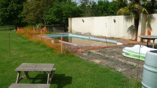Pool Paving - Before