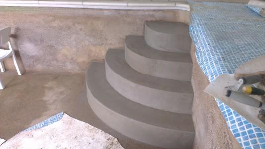 Pool steps contructions