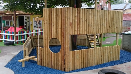 Bespoke pirate ship play area