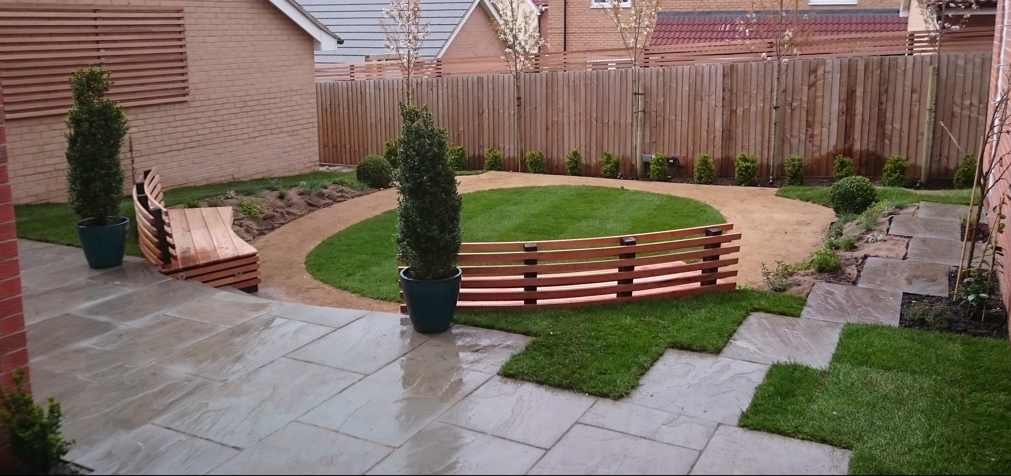 Terraced garden hortiservices for Terrace garden images